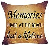 Artsblaba Best Geschenke Retro Vintage Warm Sweet Funny Sprüche Memories Made AT THE BEACH LAST A Lifetime Baumwolle Le
