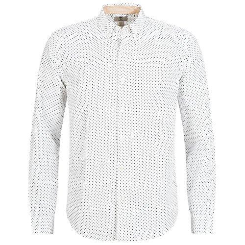 Timberland a maniche lunghe lane pois camicia da uomo 8440j di 019, 8440j-100, xxxl