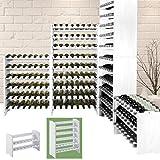 Weinregal/Regal für Wein/System MEDOC aus Holz, Farbe Weiß, für 48Flaschen, ampilabile/stapelbar–A 87,5x l 68x T 27CM