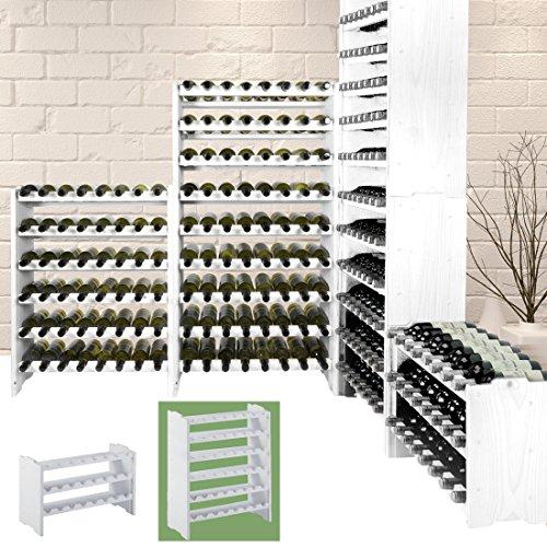 Weinregal/Regal für Wein/System MEDOC aus Holz, Farbe Weiß, für 48Flaschen,...