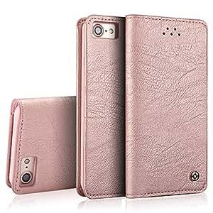 iPhone 6S Plus Handy-Hülle, XUNDD Gentleman series , hervorragende Qualität , weiche Geldtasche / Handyhülle aus PU-Leder für das iPhone 6S Plus / iPhone 6 Plus (Rose Gold)