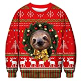 Faultier Ugly Christmas Sweater Digitaldruck