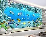 Kuamai Benutzerdefinierte Hd Große Unterwasserwelt Korallen Loch 3D Wohnzimmer Tv Hintergrund Wand Aquarium Fördernde Wallpaper 120 X 100 Cm