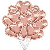 a ray of sunshine 30 Stück 18 Zoll Herzballons ,Herz Folienballon, Herzform Heliumballons für Party,Geburtstag,Valentinstag,