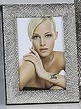 Moderner Bilderrahmen Fotorahmen aus Aluminium Pearl mit 3D Oberfläche 10x15 cm