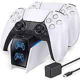 OIVO Chargeur Manette PS5, Chargeur PS5 Rapide 2 heure avec EU Adaptateur pour PS5 Manette, Recharge Manette PS5 pour Support