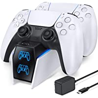 OIVO Chargeur Manette PS5, Chargeur PS5 avec Adaptateur Compatible avec Manettes DualSense Playstation 5, Station de…