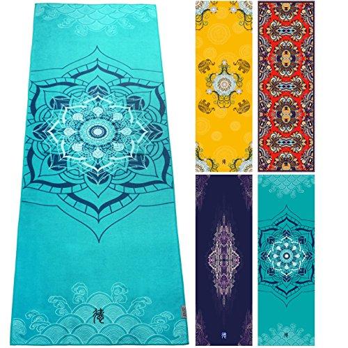 Bedruckte Dyzd-Handtücher aus 100% Mikrofaser - geeignet als Yoga-Handtuch, Strandtuch, Pool-Handtuch - mit Sprüh-Flasche - hochwertiges Handtuch - perfekt für Fitness, Reisen, Camping und Yoga - rutschfest und ultra saugfähig, Stil 3