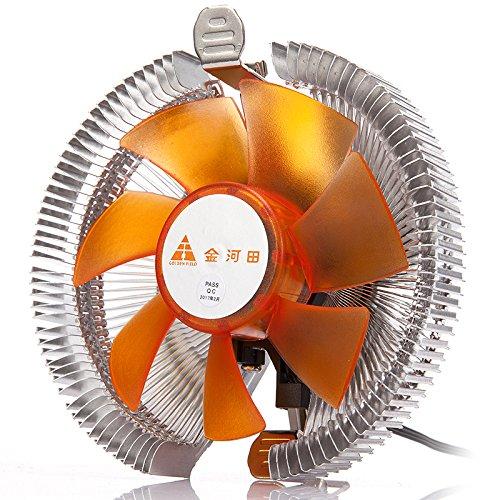 GOLDEN FIELD Golden-Kühlkörper/Lüfter mit leiser CPU-Kühler Radiator für Intel und AMD 100 ICE