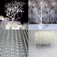 vanpower Crystal Beads Curtain Garland Diamond Strand DIY Wedding Decorations Bridal Bouquet Decoration (10Meters)-33FT 1 Roll