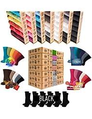 +NUEVO+ [7 + 5 GRATIS] Deluxe|BOX [Original AirSox®] Calcetines Hombre Mujer | 100% Algodon Orgánico [UNISEX|36-50] Negros+Blancos+TODOS COLORES [Business|Ciclismo|Deporte|Running] MADE IN EUROPE