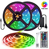 10M Tira LED RGB 5050, Tiray Ledy Flexible Multicolor 300 LEDs Strip Tiras LED de Luces LED Kit Completo para Hogar, Restaurante, Cocina, Porche, Oficina, Dormitorio Incluyendo Adaptador