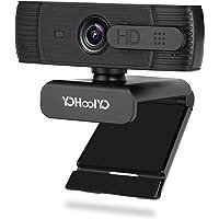YOHOOLYO Webcam per PC con Microfono, 1080P Full HD USB 2.0 Webcam con Autofocus, con Sportellino per la Privacy…
