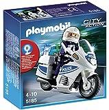 PLAYMOBIL 5185 - Polizeimotorrad mit Blinklicht