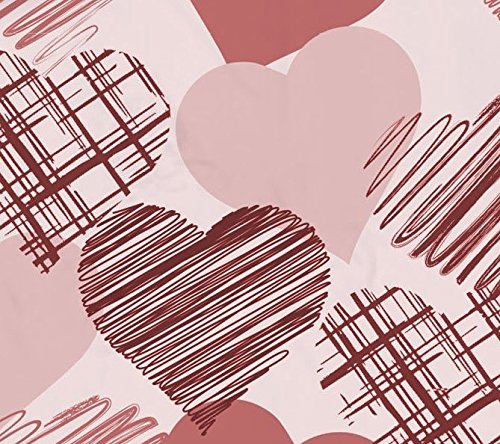 Pöller Bettwäsche Herzblatt ca.135×200 und 80×80 cm Farbe Marsala-Rose