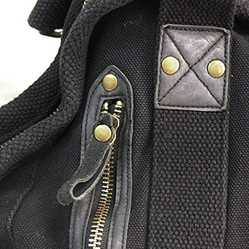 Kakadu Classic Small Canvas Doctor's Bag Black