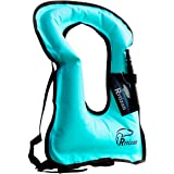 Rrtizan Swim Vest for Kids, Portable Inflatable Buoyancy Aid Swimming Jackets Safety for Children 2-9 Years, 15-60 lbs Boys &