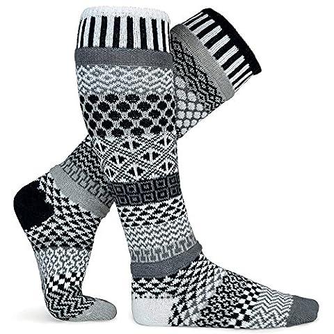 Chaussettes Solmate - Mesappartement Longueur du genou Chaussettes Fabrique avec des fils de coton recycles Minuit S