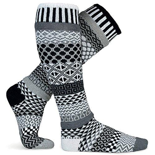 Solmate Socks Damen Herren Kniestruempfe Baumwollgarn Mitternacht Gross (Liner Gold Toe)
