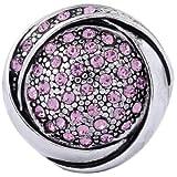 Morella Damen Click-Button Druckknopf mit rosa Zirkoniasteinen