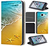 CoverFix Premium Hülle für Samsung Galaxy A5 (Modell 2017) A520 Flip Cover Schutzhülle Kunstleder Flip Case Motiv (1506 Strand Meer Sonne Urlaub)