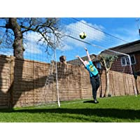 AS SEEN on DRAGONS DEN! - Open Goaaal! Football Goal & Rebounder - Stops shots going over AND rebounds them back! – Large Size