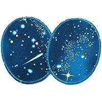 Set 2 Knieflicken Weltall Space Hosenflicken Flicken zum Aufbügeln für Kinder