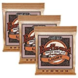 Ernie Ball 2151 Earthwood phosphoreux P1 Pack de 3 Light