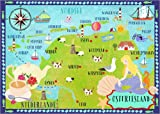 Poster 40 x 30 cm: Bunte Karte Ostfriesland von Elisandra