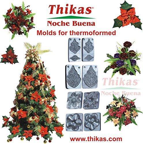 Stampi per fiori di termoformado thikas Natale, chaska) Set di 4paia di stampi