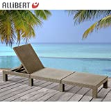 Allibert Mississippi Sunlounger Cappuccino Sonnenliege Gartenliege Polyrattan