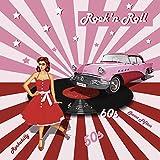 Artland Qualitätsbilder I Poster Kunstdruck Bilder 30 x 30 cm Fahrzeuge Auto Mixed Media Pink Rosa C7MD Rock'n Roll die 50er Jahre