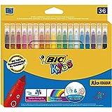 Bic Kids Kid Couleur Pack de 36 Feutres de Coloriage motif bulles Couleurs Assorties