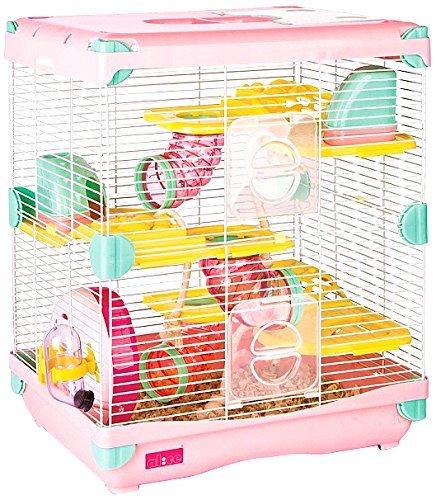 Exploration Land Hamsterkäfig Größe 36 x 27 x 42,5 cm, Rosa