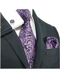 landisun Paisley, Set de Cravates Homme