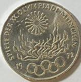 Münzen für Sammler BRD Schönnr: 134D (64) Olympiade Feuer, Stempelglanz 1972 10 DM Silbergedenkmünze