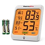 ThermoPro TP53 Hygrometer Humidity Gauge Indicator Digital Indoor Thermometer Room Temperature and Humidity Monitor with...