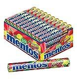 Mentos Chewy Dragees Duo, Fragola-Lime, 40 Rotoli da 14 Caramelle da Masticare