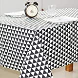 MIRACLE BLACK Christmas Tablecloth Christmas Tree And Deer Linen And Cotton Fresh Table Cloth New Korean Style Toalha