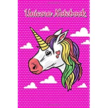 Unicorn Notebook: Cute Unicorns Journal, 100 Blank Lined Page, 6x9 Inches, 100