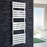 iBathUK 1600 x 600 White Flat Panel Heated Towel Rail Bathroom Radiator - All Sizes RW1600600