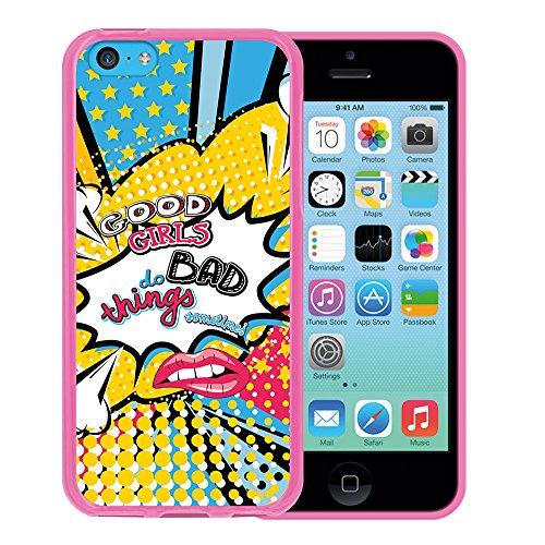 WoowCase Hülle Case für { iPhone 5C } Handy Cover Schutzhülle Schwarzer Basketballspieler Housse Gel iPhone 5C Rosa D0456