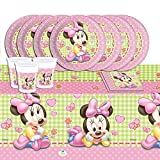 Disney Baby Shower Pink Minnie Mouse Complete Party Supplies Kit