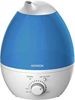 Elechomes UC5501 6L Warm and Cool Mist Ultrasonic Humidifier for Large Room Baby Bedroom and Mini Portable Water Bottle Humidifier for Travel Office