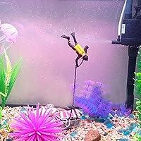 zhjz Fish Tank tesoro diver adorno decoración