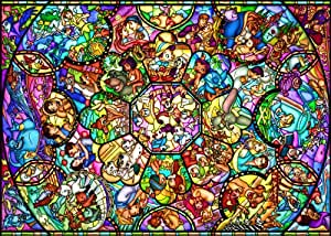 Tenyo Disney All Characters Stained Glass Jigsaw Puzzle (2000 Piece)