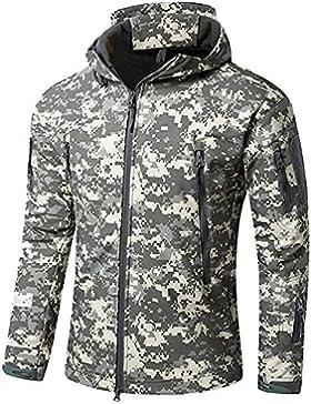 [Patrocinado]Impermeable militar táctica lucha contra la chaqueta de Softshell camping al aire libre caminar camuflaje Hoodie...