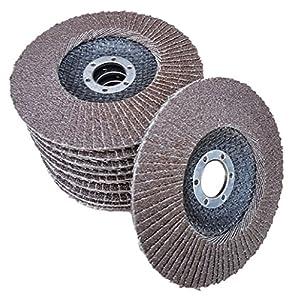 Flex Schleifscheiben / Fächerscheiben 10 Stück 125 mm Normalkorund (Korn 60) Rostio
