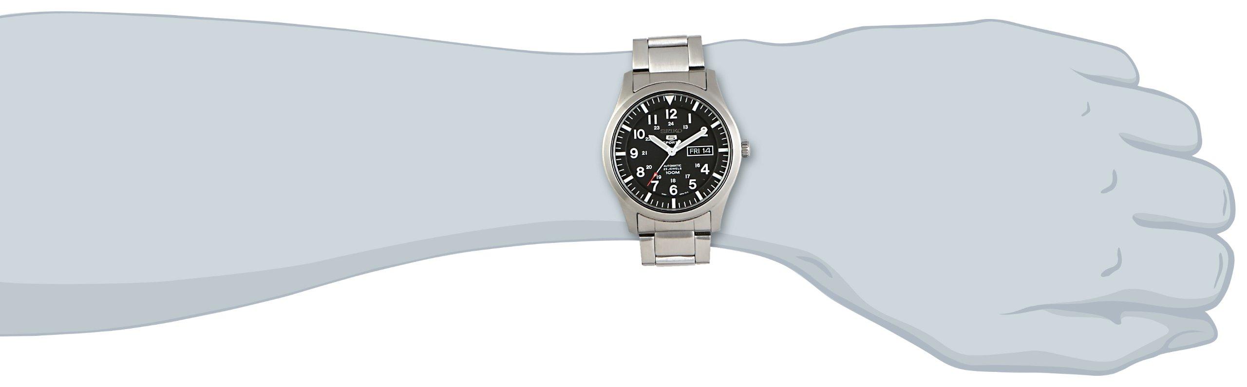 Seiko Reloj Analógico Automático para Hombre con Correa de Acero Inoxidable – SNZG13K1
