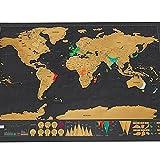 Raspe El Cartel Del Mapa Del Mundo, Rasguño Personalizado Del Viaje Para La Sala Del Mapa La Decoración Del Hogar Pegatinas De La Pared